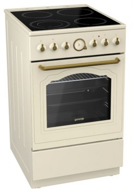 Gorenje Cooker EC52CLI Hob type Glassceramic, Oven type Electric, Ivory, Width 50 cm, Electronic ignition, Grilling, Depth 60 cm