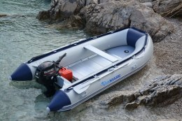 Viamare 380 Alu, PVC Inflatable Boat with Solid Bottom, 6 person(s)