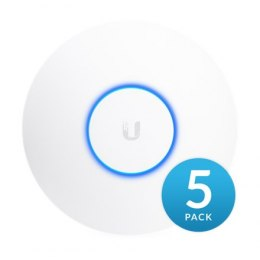 Ubiquiti UAP-AC-HD-5Pack Wave 2 Access point 1733 Mbit/s, 10/100/1000 Mbit/s, Ethernet LAN (RJ-45) ports 2, MU-MiMO Yes, PoE in,