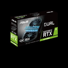 Asus ASUS DUAL-RTX2070S-O8G-EVO NVIDIA, 8 GB, GeForce RTX 2070 SUPER, GDDR6, PCI Express 3.0, Processor frequency 1605 MHz, Mem