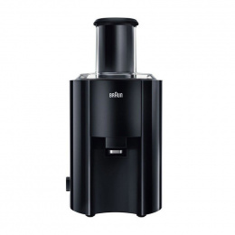 Braun J 300 BK Type Automatic juicer, Black, 800 W, Extra large fruit input, Number of speeds 2