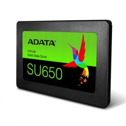 "ADATA Ultimate SU650 3D NAND SSD 960 GB, SSD form factor 2.5"", SSD interface SATA, Write speed 450 MB/s, Read speed 520 MB/s"