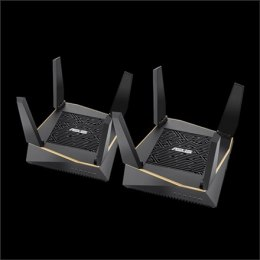Asus Router RT-AX92U 2PK 802.11ax, 400+ 867+ 4804 Mbit/s, 10/100/1000 Mbit/s, Ethernet LAN (RJ-45) ports 4, Mesh Support Yes, MU