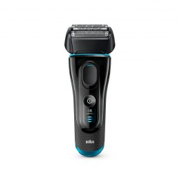 Braun Wet & Dry shaver 5140s Charging time 1 h, Wet use, Li-Ion, Black/Blue