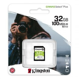 Kingston Canvas Select Plus UHS-I 32 GB, SDHC, Flash memory class 10