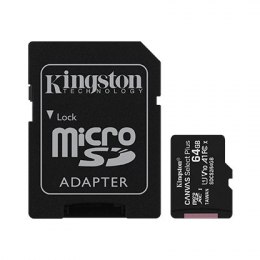Kingston Canvas Select Plus UHS-I 64 GB, MicroSDXC, Flash memory class 10, SD Adapter