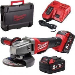 Milwaukee Angle Grinder M18 CAG125X-502X 18 V, 5 Ah, Li-On, Batteries included 2 pc(s)
