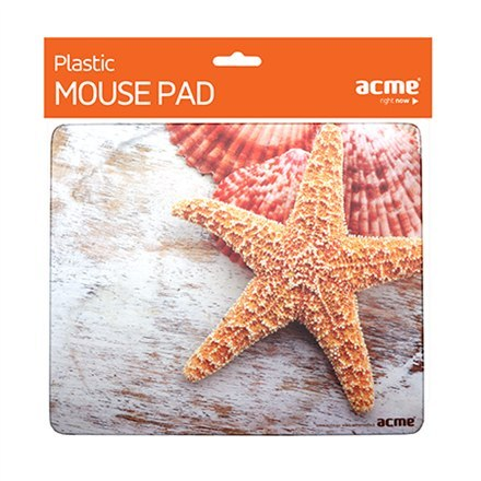 Acme Sea shells Mouse Pad, Brown, PVC, Rubber, 230 x 195 x 3 mm