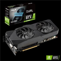 Asus DUAL-RTX2060S-A8G-EVO-V2 NVIDIA, 8 GB, GeForce RTX 2060 SUPER, GDDR6, PCI Express 3.0, Processor frequency 1665 MHz, DVI-D