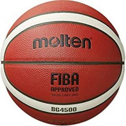 Basketball ball TOP competition MOLTEN B6G4500-X FIBA, synth. leather size 6