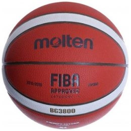 Basketball ball competition MOLTEN B5G3800 FIBA, synth. leather size 5