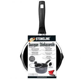 Stoneline 12584 Saucepan, 18 cm, Suitable for all cookers including induction, Anthracite, Non-stick coating, Lid included, Fixe