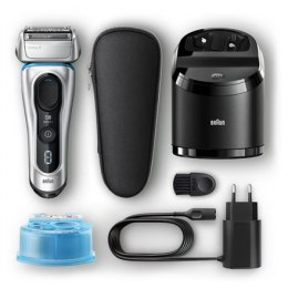 Braun Shaver 8390cc Cordless, Wet use, Lithium Ion, Number of shaver heads/blades 4, Silver