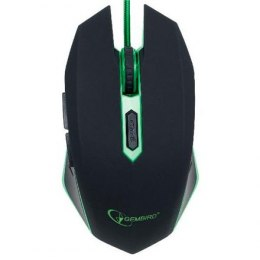 Gembird Gaming mouse, MUSG-001-G, Black/green, USB