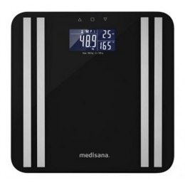 Medisana Body Analysis Scale BS 465 Memory function, Black, Body fat analysis, Body water percentage, Auto power off, Multiple u