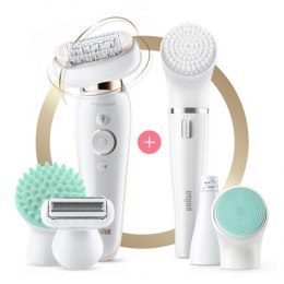 Braun Epilator SES9300 Silk-epil 9 Flex Operating time 50 min, Cordless, Number of speeds 2, White/Gold