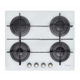 Candy CVG 64 STGB Gas on glass, Number of burners/cooking zones 4, Rotary knobs, White