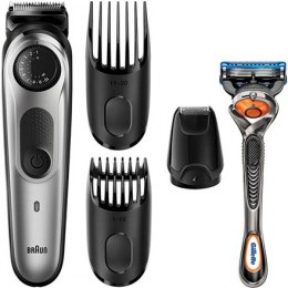 Braun Trimmer with Gillette Razor BT5065 Cordless, Number of length steps 39, Silver