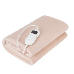 Camry Electric blanket CR 7423 Number of heating levels 8, Number of persons 1, Washable, Coral fleece, 60 W, Beige