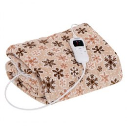 Camry Electric blanket CR 7430 Number of heating levels 7, Number of persons 1, Washable, Coral fleece, 110-120 W, Beige