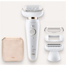 Braun Epilator SES9002 Epilator Silk-epil 9 Flex Operating time 40 min, Cordless, Number of speeds 2, White/Gold