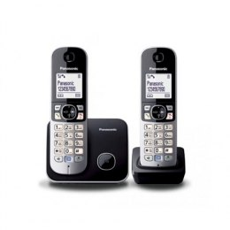 Panasonic Cordless phone KX-TG6812FXB Silver/Black, Caller ID, Wireless connection, Conference call, Built-in display