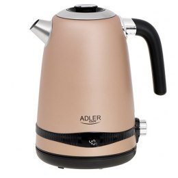 Adler Kettle AD 1295	 Electric, 2200 W, 1.7 L, Stainless steel, 360° rotational base, Golden