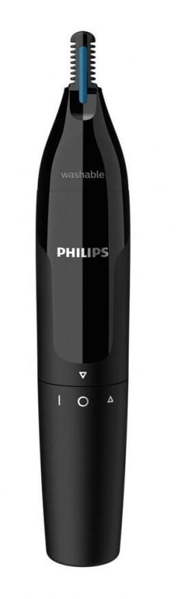Philips Nose and Ear Trimmer NT1650/16 Wet & Dry, Black, Cordless