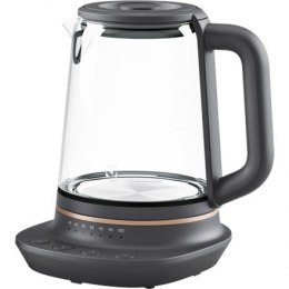Electrolux Kettle Explore 7 E7GK1-8BP Electric, 2000 W, 1.7 L, Glass, 360° rotational base, Black/Transparent