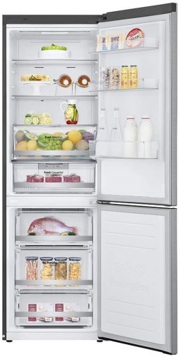 LG Refrigerator GBB71PZDMN A++, Free standing, Combi, Height 186 cm, No Frost system, Fridge net capacity 234 L, Freezer net cap