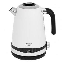 Adler Kettle AD 1295w	 Electric, 2200 W, 1.7 L, Stainless steel, 360° rotational base, White