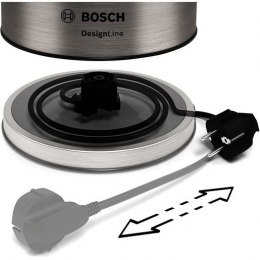 Bosch Kettle DesignLine TWK5P480 Electric, 2400 W, 1.7 L, Stainless steel, 360° rotational base, Stainless steel