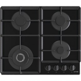 Gorenje Hob GTW641EB Gas on glass, Number of burners/cooking zones 4, Mechanical, Black