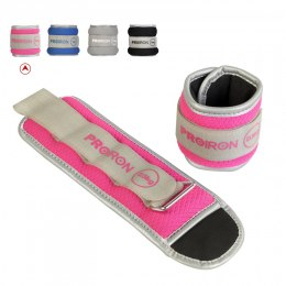 PROIRON Ankle Weight Set Weight Bands, 25.5 x 9 cm, 2 x 0.5 kg, Pink