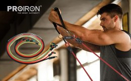 PROIRON Exercise Resistance Bands Set Multicolor, Foam, Rubber, 160 cm