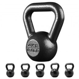 PROIRON PRKHKB04K Cast Iron Kettlebell Weight, 1 pc, 4 kg, Black, Solid Cast Iron