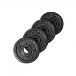 PROIRON PRKISP01K Weight Plates Set, 4 x 1.25 kg, Black, Solid Cast Iron