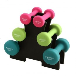 PROIRON PRKNDS12K Dumbbell Weight Set, 6 pcs (2 x 1 kg, 2 x 2 kg, 2 x 3 kg), 12 kg, Multicolor, Neoprene