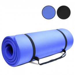 PROIRON Pilates Mat Gym Mat, 180 x 61 x 1.5 cm; Rolled up diameter: 15-20 cm, Blue, Rubber Foam