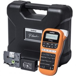 Brother Industrial durable label maker PTE110VP Thermal, Label Printer, Orange