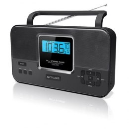 Muse M-087R Black, 2-band PLL stereo portable radio