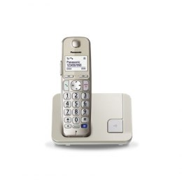 Panasonic Cordless KX-TGE210FXN Conference call, Built-in display, Champagne, Caller ID, Phonebook capacity 150 entries, Speaker