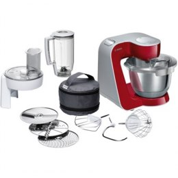 Bosch MUM58720 Grey, Red, Stainless, 1000 W