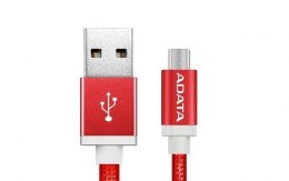 ADATA Sync and Charge Micro USB Cable, USB A, Micro-USB B, 1 m, Red