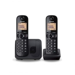 Panasonic Cordless KX-TGC212FXB Black, Built-in display, Phonebook capacity 50 entries, Speakerphone, Caller ID