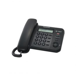 Panasonic Corded KX-TS560FXB 588 g, Black, Caller ID, Phonebook capacity 50 entries, Built-in display, 190 X 196 X 95 mm