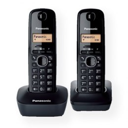 Panasonic Cordless KX-TG1612FXH Black, Caller ID, Wireless connection, Phonebook capacity 50 entries, Built-in display, Conferen