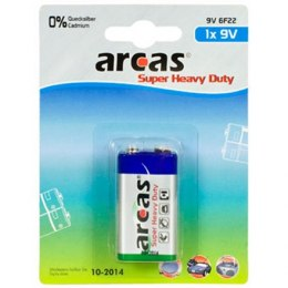 Arcas 9V/6LR61, Super Heavy Duty, 1 pc(s)