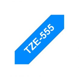 Brother TZe-555 Laminated tape White On Blue, TZe, 8 m, 2.4 cm