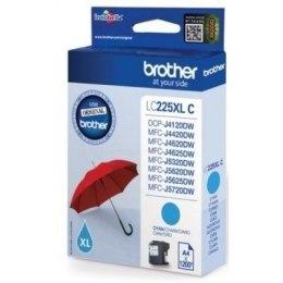 Brother LC-225XLC Ink Cartridge, Cyan